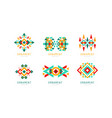ornament design logo templates collection vector image vector image