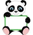 Panda Frame vector image vector image