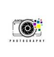 photography design with camera vector image vector image