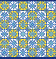 portuguese azulejo tiles blue and white gorgeous vector image vector image
