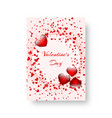 Rectangular notebook with scarlet hearts