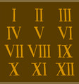 roman number alphabet symbol sign vector image