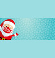santa claus in a protective mask vector image