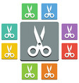 scissors icons - almost flat style vector image