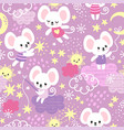 seamless pattern with a cute little mouse vector image vector image
