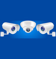 security camera set wall and ceiling mount cctv vector image vector image