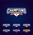 set champion sports league logo emblem vector image