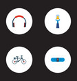 set of modern icons flat style symbols with vector image
