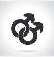silhouette male homosexual mars symbol vector image vector image