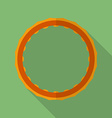 Sport hula hoop icon Modern Flat style with a long vector image vector image