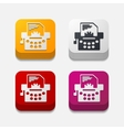 square button typewriter vector image
