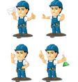 Technician or Repairman Mascot 4 vector image vector image
