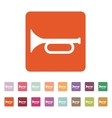 The horn icon clarion symbol Flat vector image vector image