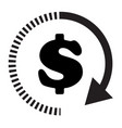 time dollar icon on white background flat style vector image vector image