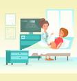 ultrasound pregnancy vector image vector image