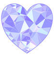 valentines triangulated heart in low poly style vector image vector image