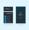 vertical double-sided business card template vector image vector image