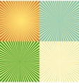 vintage comics background set ray light vector image