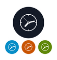 Watch icon wall clock icon vector image vector image