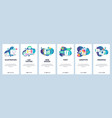 web site onboarding screens graphic design web vector image vector image