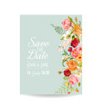 wedding invitation card with lily flowers vector image vector image