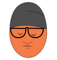 worried guy with big glasses on white background vector image vector image