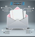 mail letter paper - business infographic vector image