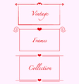 vintage frames hearts weddind invitations cards vector image