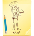 A simple sketch of a chef vector image