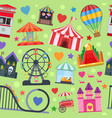 amusement park seamless pattern vector image vector image