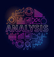 analysis colorful vector image vector image