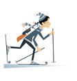 biathlon competitor young woman isolated vector image vector image