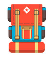 big travel backpack icon vector image vector image