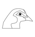 bird pigeon head animal peace icon vector image vector image