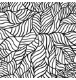 black and white pattern with abstract waves vector image vector image