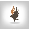 Black eagle with expanded wings vector image vector image