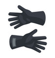 black protect gloves icon flat style vector image