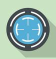blue gun aim icon flat style vector image
