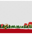 border with gift box transparent background vector image vector image