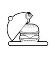 burger fast food tasty delicious snack lunch vector image