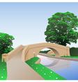 Canal Bridge vector image vector image