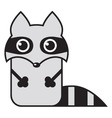 cartoon raccoon vector image vector image