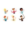 children different professions set cute boys vector image vector image