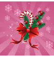 Christmas candy cane pink background vector image