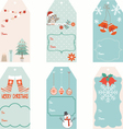 Christmas Gift Tags set vector image vector image