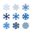 chunky marker snowflakes set vector image vector image