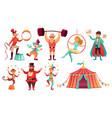 circus characters juggling animals juggler vector image