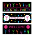 Cocktail Party Banners vector image vector image