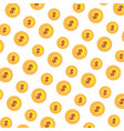 coins money pattern background vector image