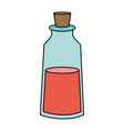 color image cartoon small glass bottle essential vector image vector image